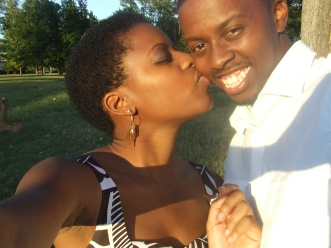 Brandon and I in 2010, celebrating our first year dating anniversary.