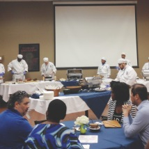 Elleword - Our chefs worked hard to prepare our yummy dishes at the Cordon Bleu in Dallas, TX