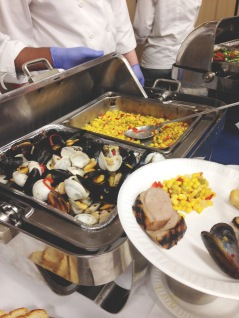 Elleword - Roast duck, mussels and succotash prepared by Chef Gerry Roland