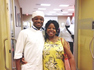 Elleword - Mom gets a pic with up and coming chef Gerry Roland (my nephew!)