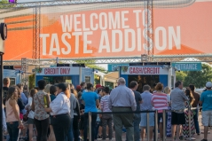 Elleword - We arrived at the Taste of Addison at 7pm or so and got to skip the lines. Felt like VIP!