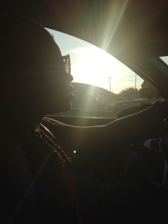 Nah driving off into the sunset.