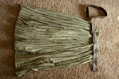 Elleword - a superlong durable green skirt for camp
