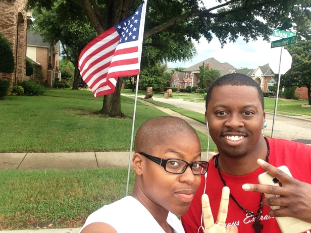 We stopped to take a pic in front of this flag on the 4th of July.
