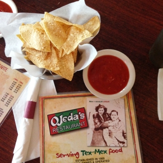 Their salsa is good and spicy!