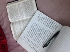 Elleword - Getting back into my quiet time with the Lord each day.