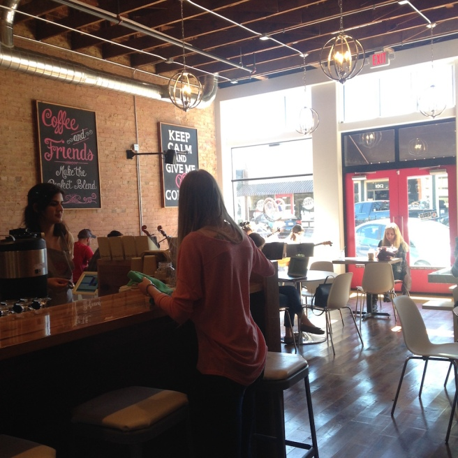 I met some fellow Spanish learners at XO Coffee in Downtown Plano, TX.